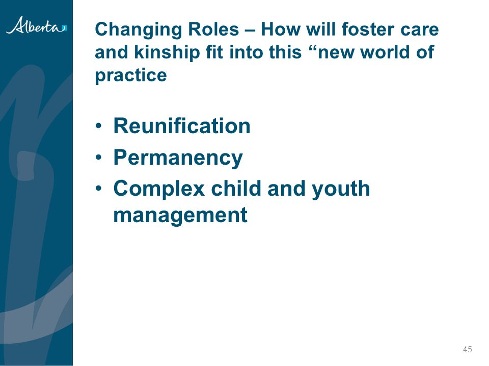 Complex child and youth management