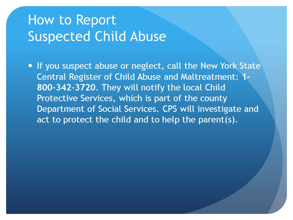 How to Report Suspected Child Abuse