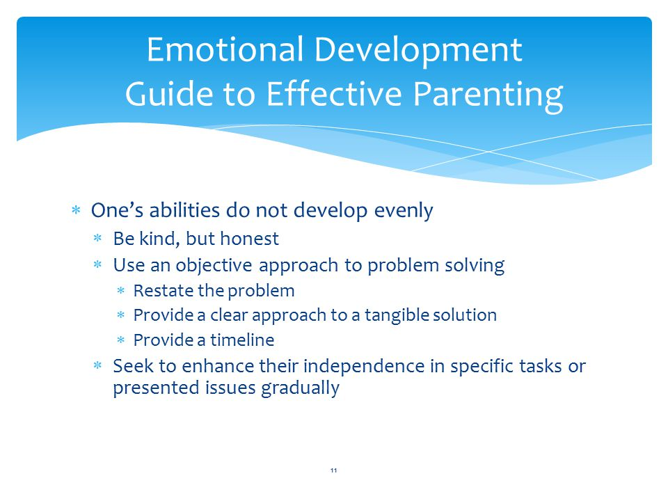 Emotional Development Guide to Effective Parenting