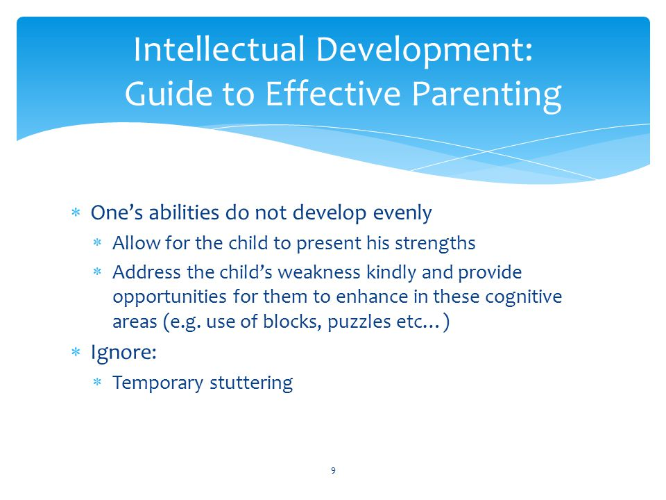 Intellectual Development: Guide to Effective Parenting