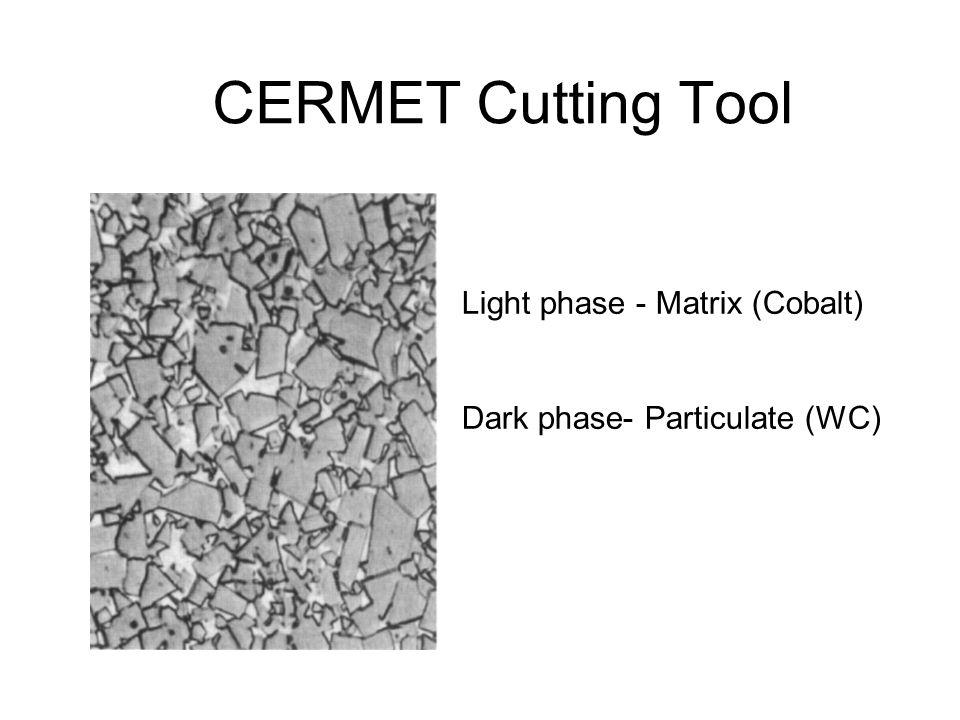 CERMET Cutting Tool Light phase - Matrix (Cobalt)