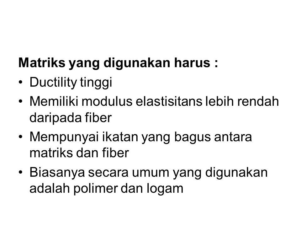 Matriks yang digunakan harus :