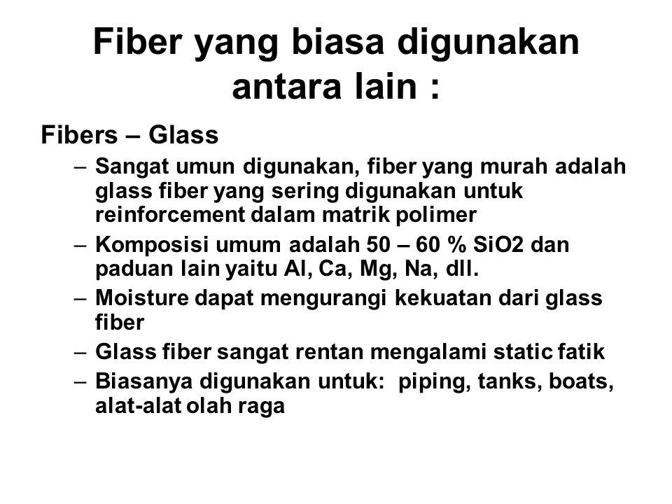 Fiber yang biasa digunakan antara lain :