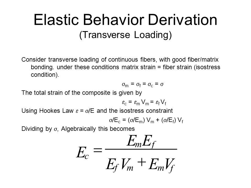 Elastic Behavior Derivation (Transverse Loading)