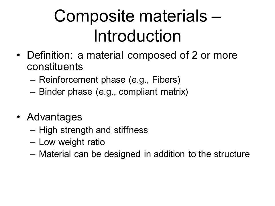Composite materials – Introduction