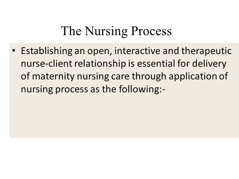 treating depression through the therapeutic nurse client relationship