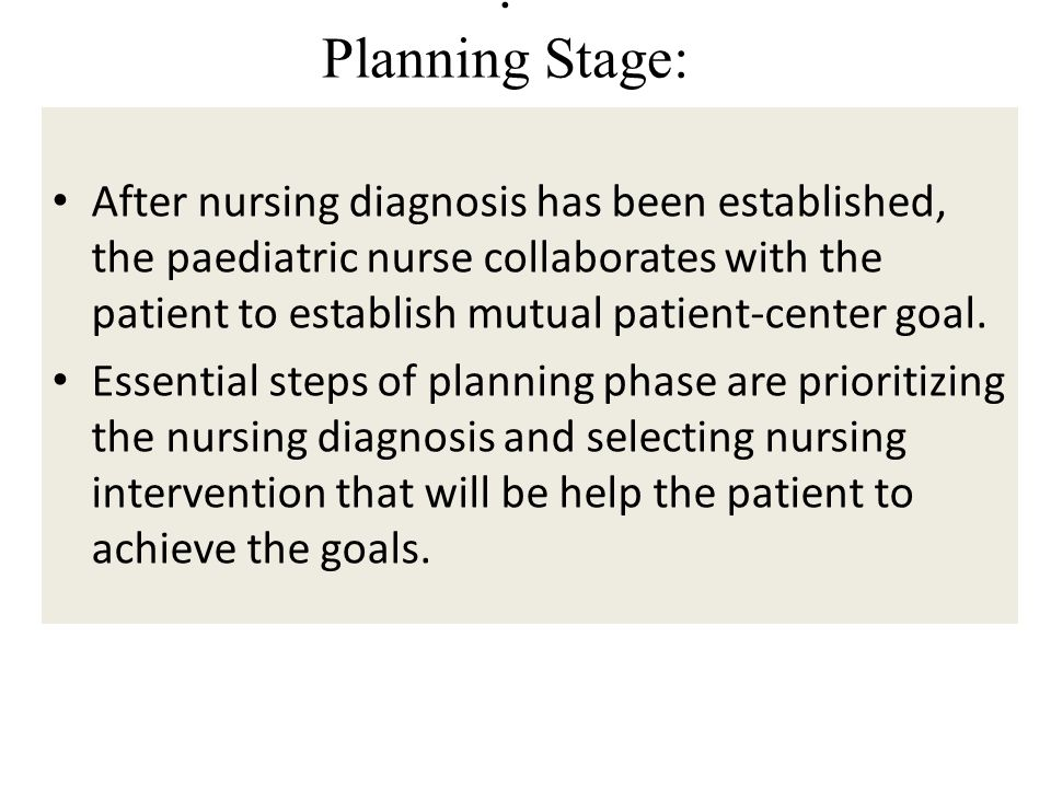 . Planning Stage: