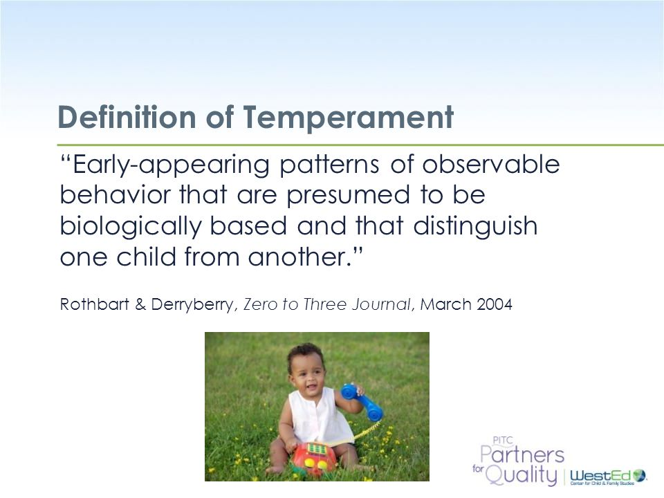 Definition of Temperament