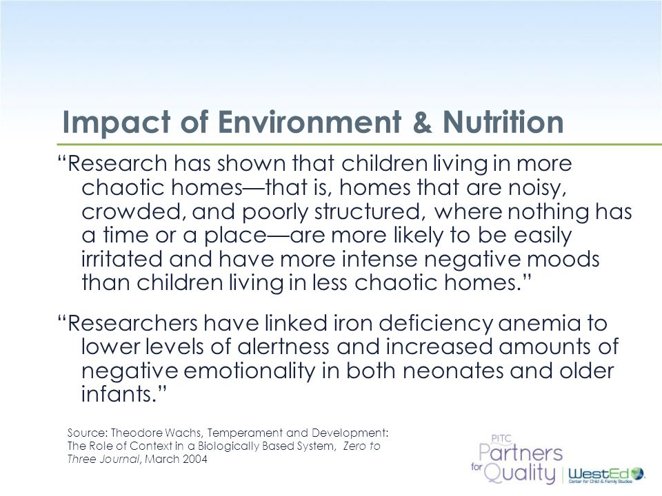 Impact of Environment & Nutrition