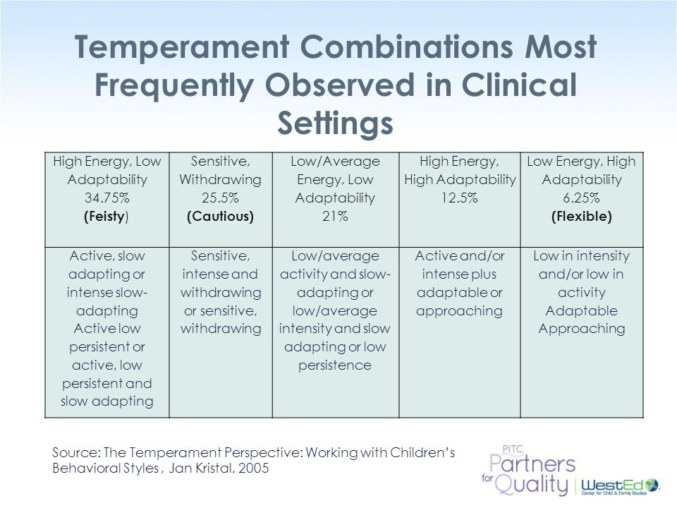 Temperament Combinations Most Frequently Observed in Clinical Settings