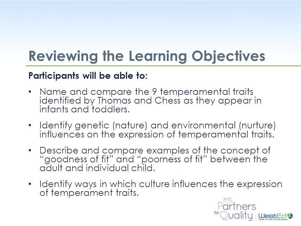 Reviewing the Learning Objectives