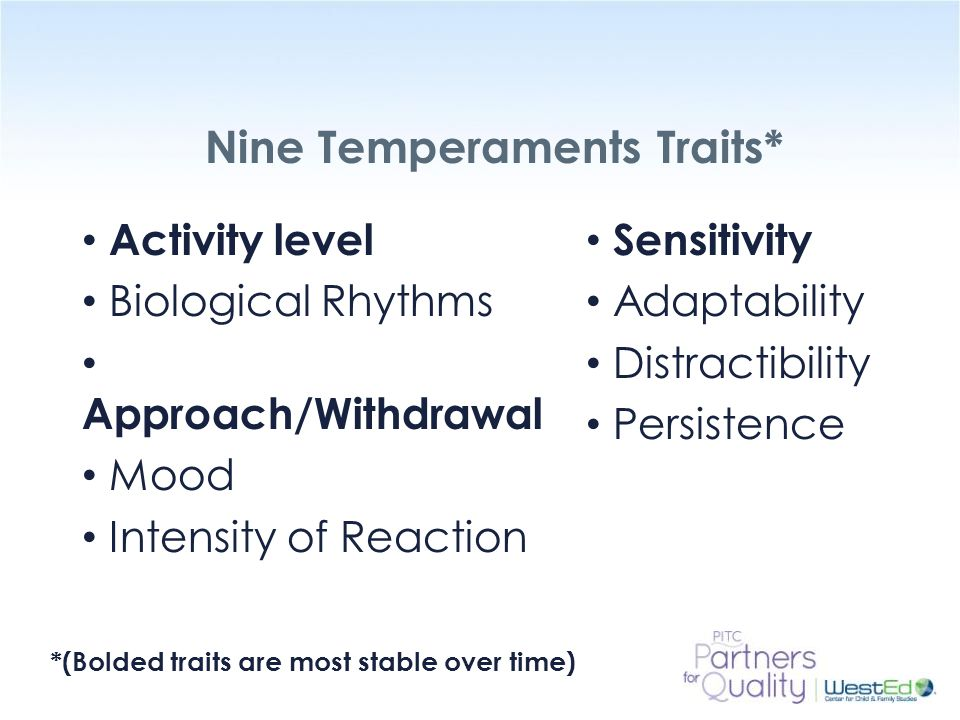 Nine Temperaments Traits*