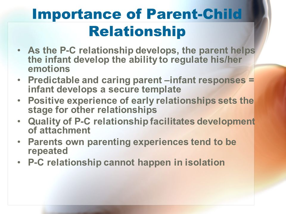 Importance of Parent-Child Relationship