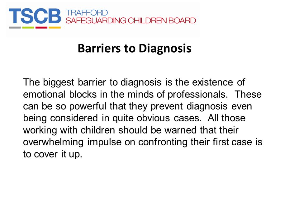Barriers to Diagnosis