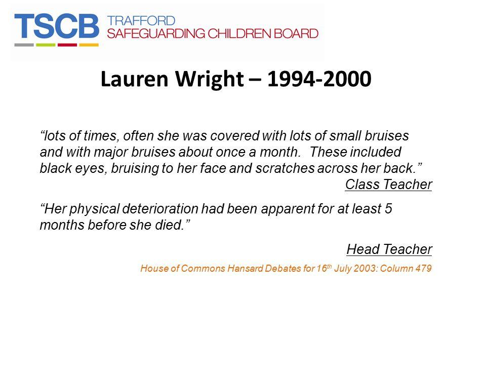 Lauren Wright – 1994-2000