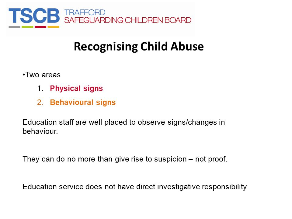Recognising Child Abuse