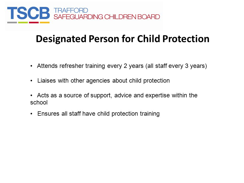 Designated Person for Child Protection