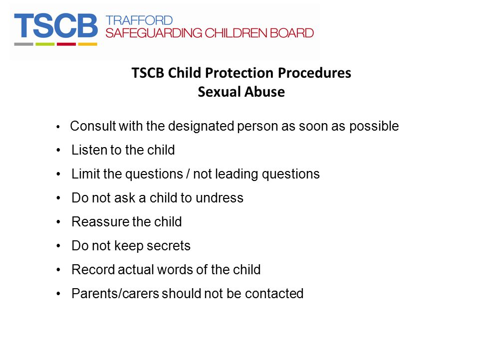 TSCB Child Protection Procedures Sexual Abuse