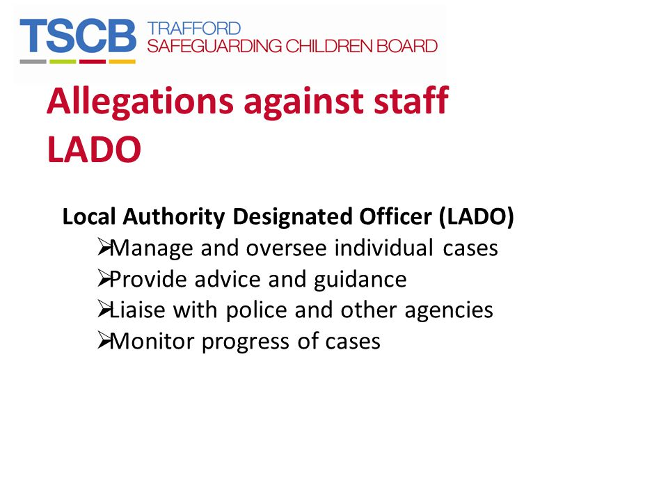 Allegations against staff LADO