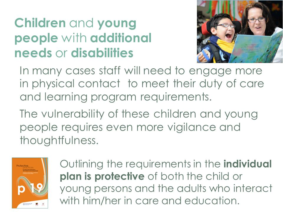 Children and young people with additional needs or disabilities