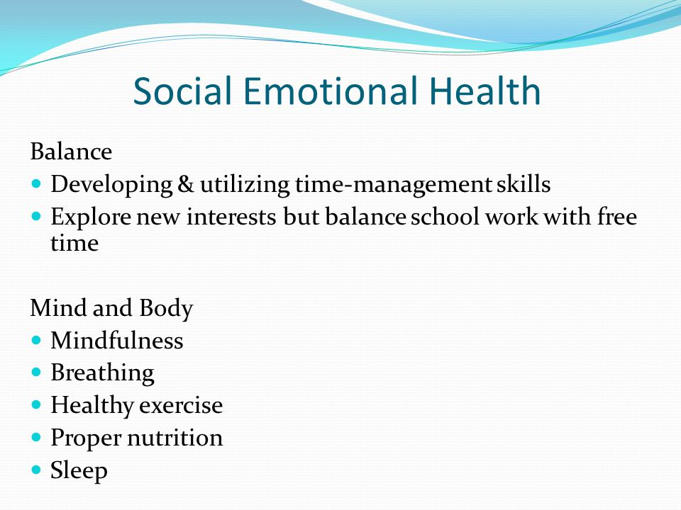 Social Emotional Health