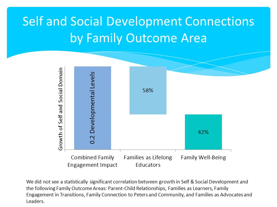 Self and Social Development Connections by Family Outcome Area