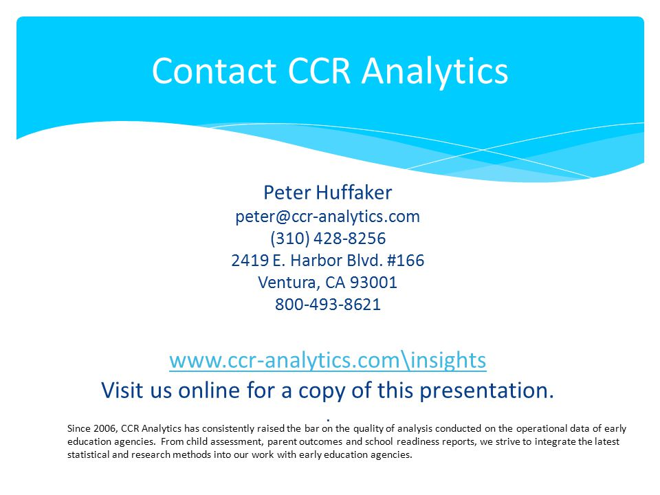 Visit us online for a copy of this presentation.