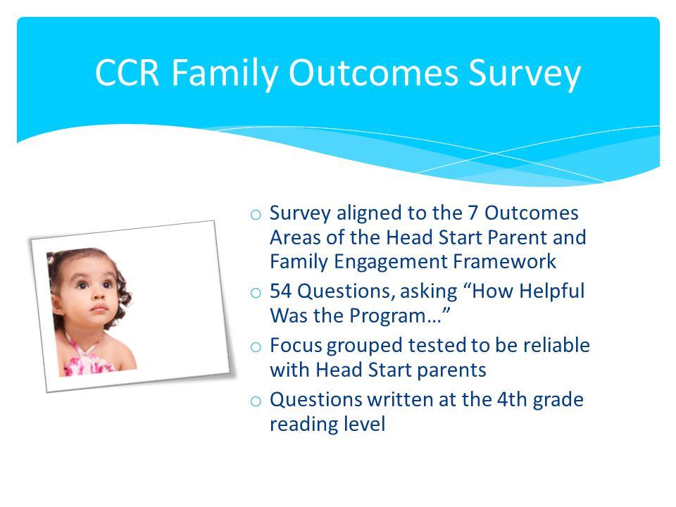CCR Family Outcomes Survey