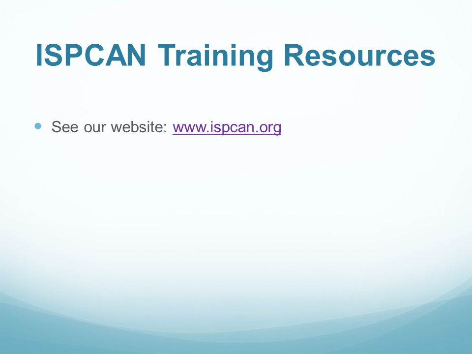ISPCAN Training Resources