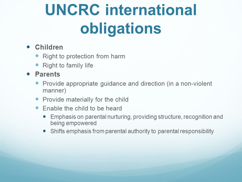 UNCRC international obligations