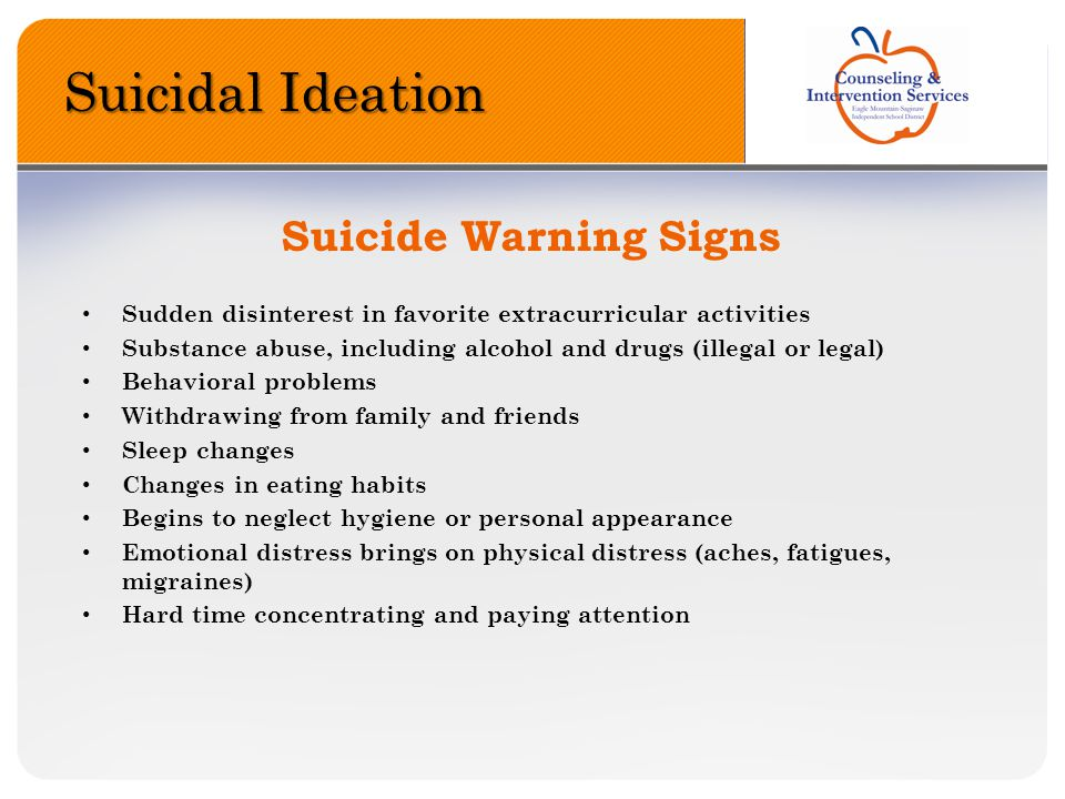 Suicidal Ideation Suicide Warning Signs