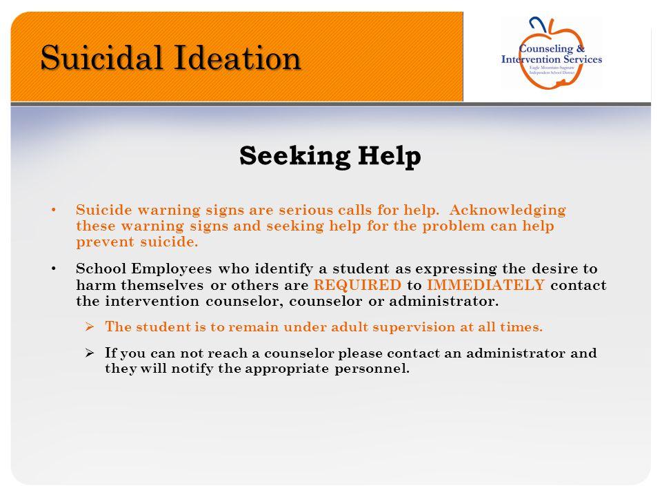 Suicidal Ideation Seeking Help