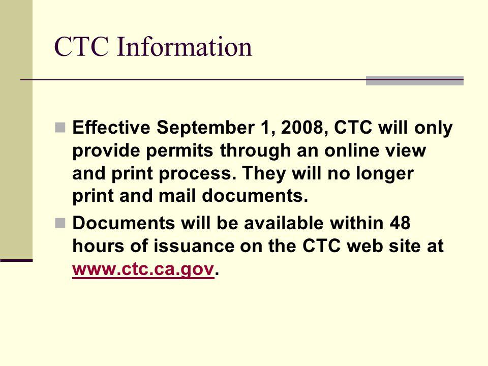 CTC Information