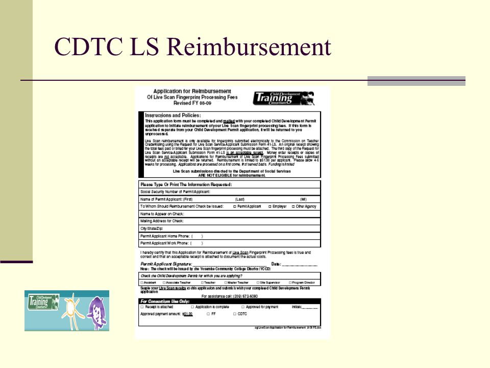 CDTC LS Reimbursement