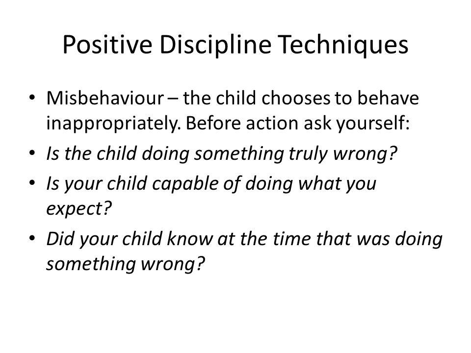 Positive Discipline Techniques