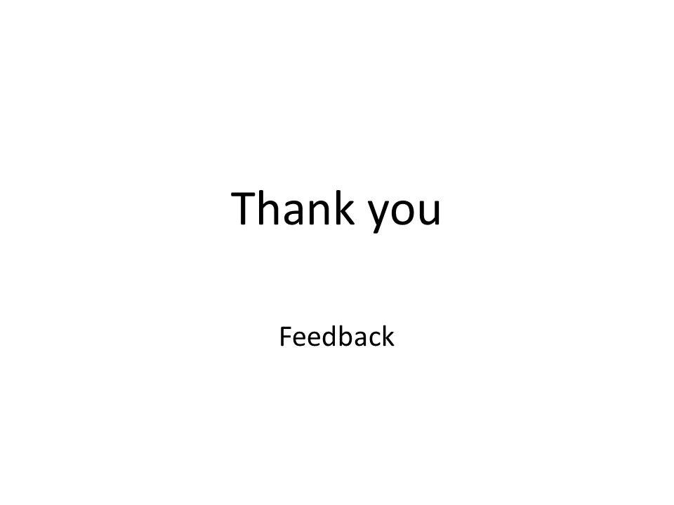 Thank you Feedback