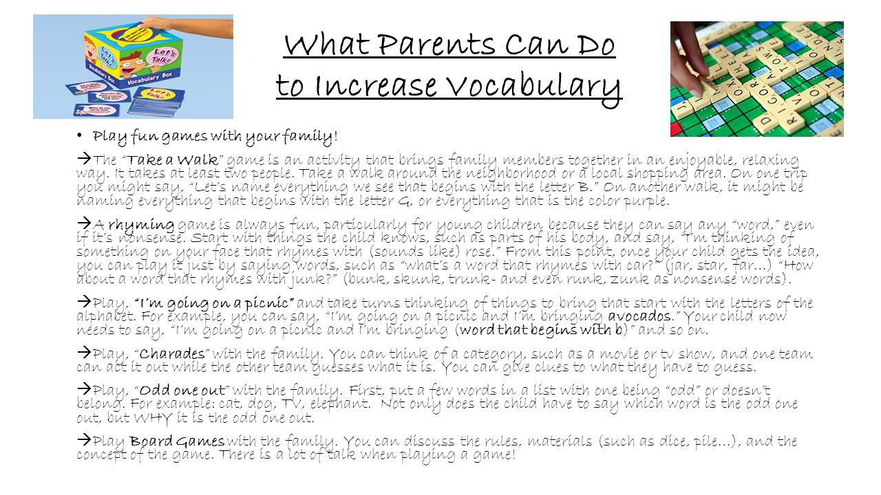 What Parents Can Do to Increase Vocabulary