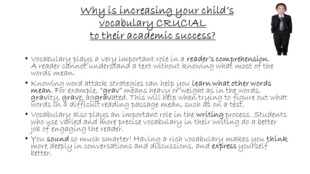 Why is increasing your child's vocabulary CRUCIAL to their academic success