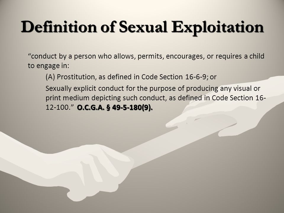 Definition of Sexual Exploitation
