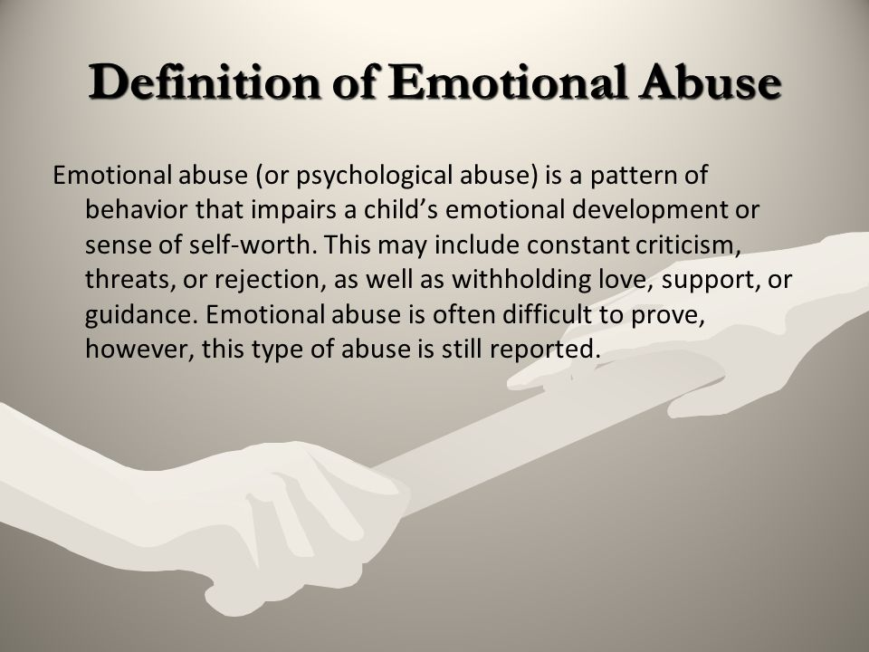 Definition of Emotional Abuse