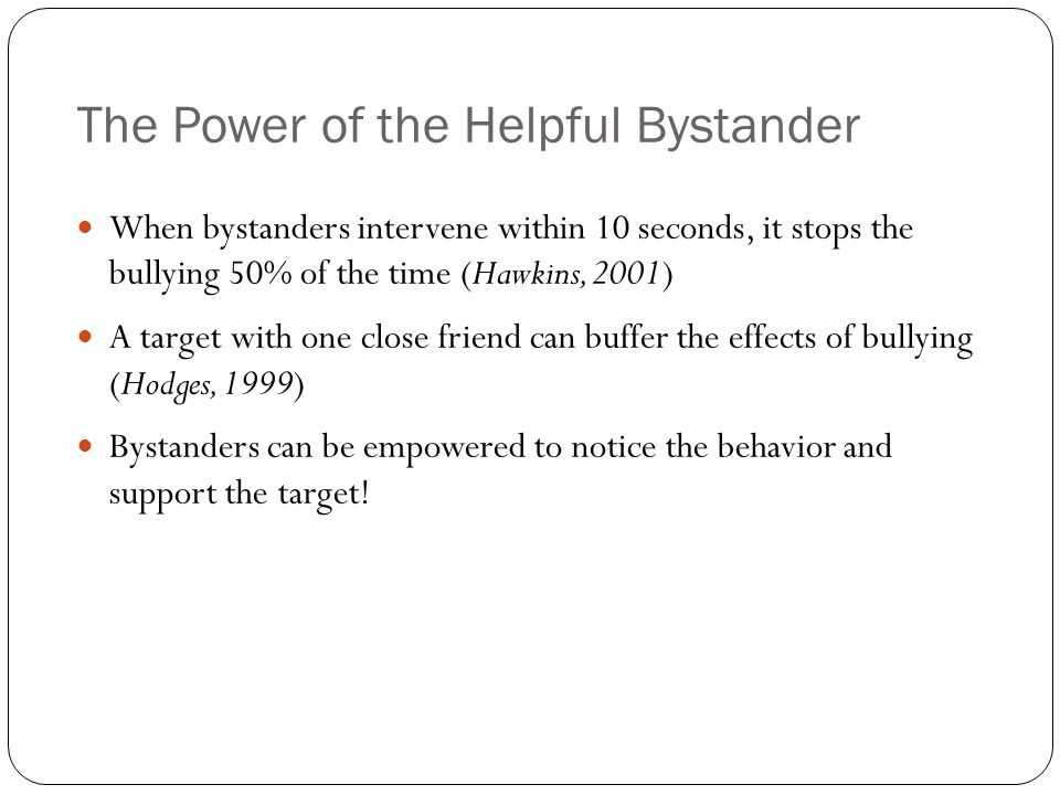 The Power of the Helpful Bystander