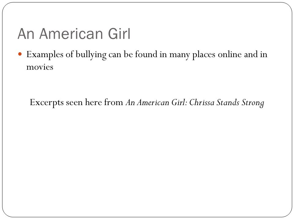 Excerpts seen here from An American Girl: Chrissa Stands Strong