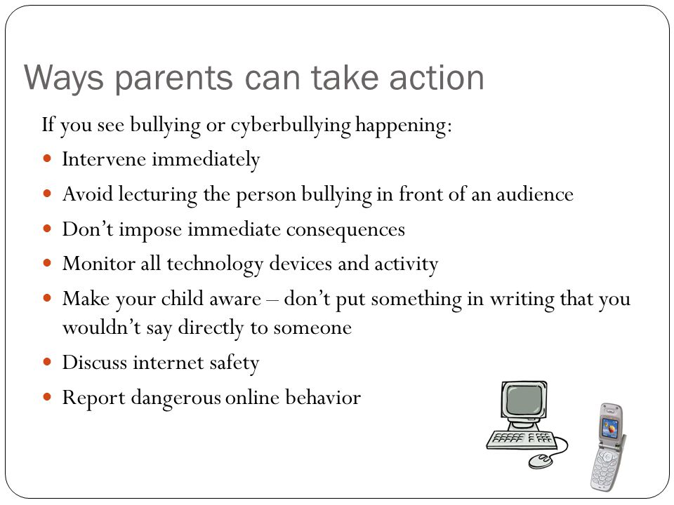 Ways parents can take action