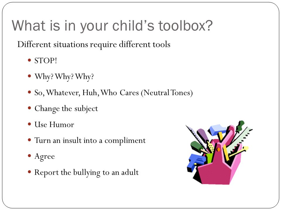 What is in your child's toolbox
