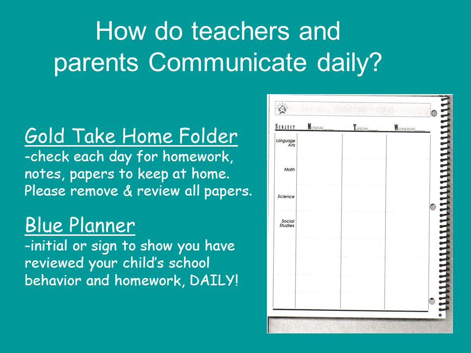 How do teachers and parents Communicate daily