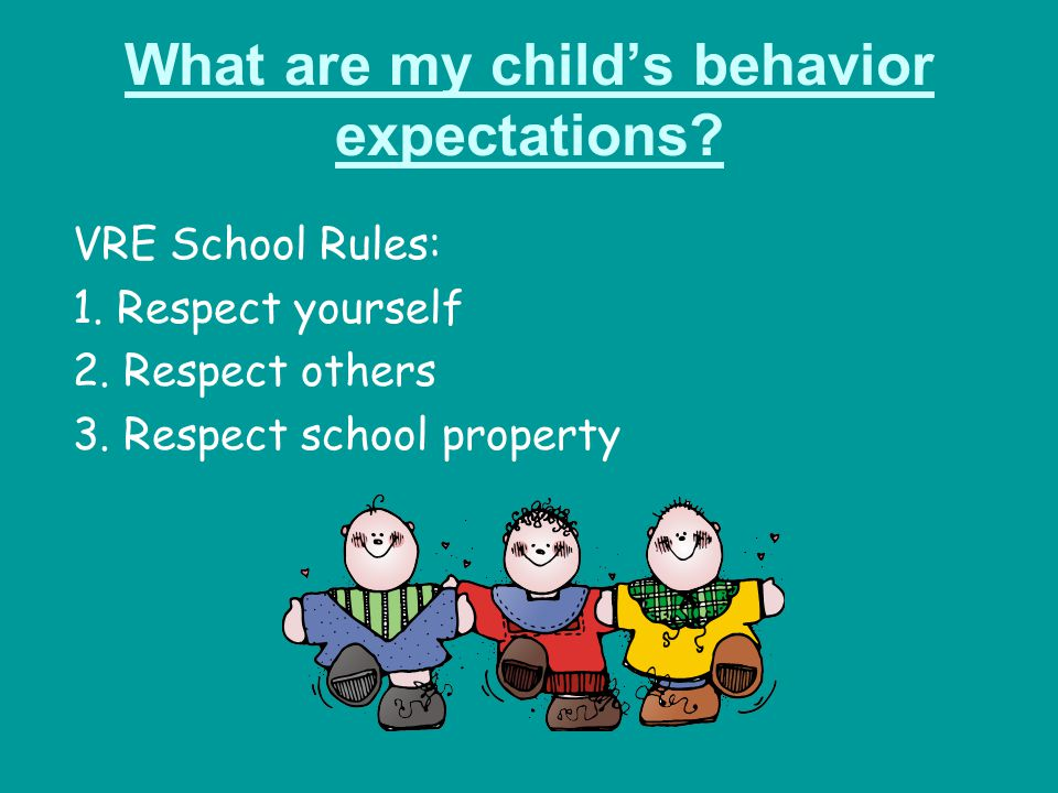 What are my child's behavior expectations