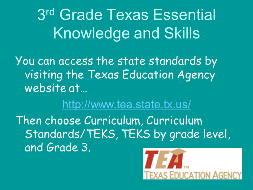 3rd Grade Texas Essential Knowledge and Skills