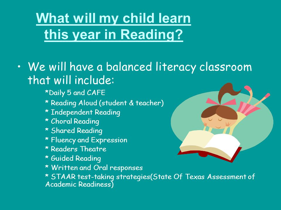 What will my child learn this year in Reading