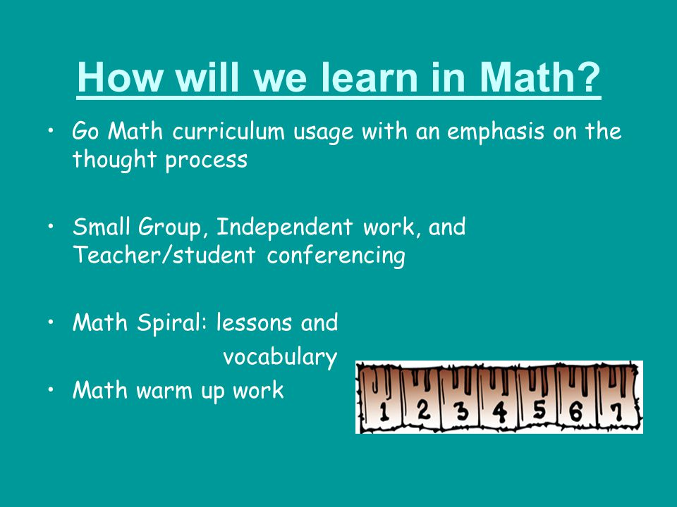 How will we learn in Math
