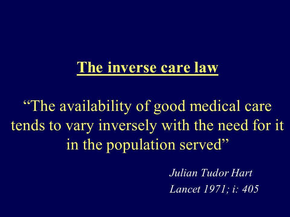 Julian Tudor Hart Lancet 1971; i: 405